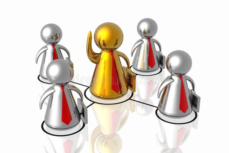 Leider en commercieel team royalty-vrije illustratie