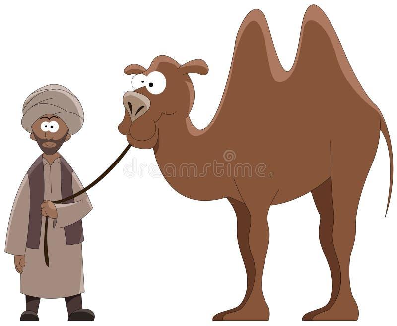 Leider en kameel royalty-vrije illustratie