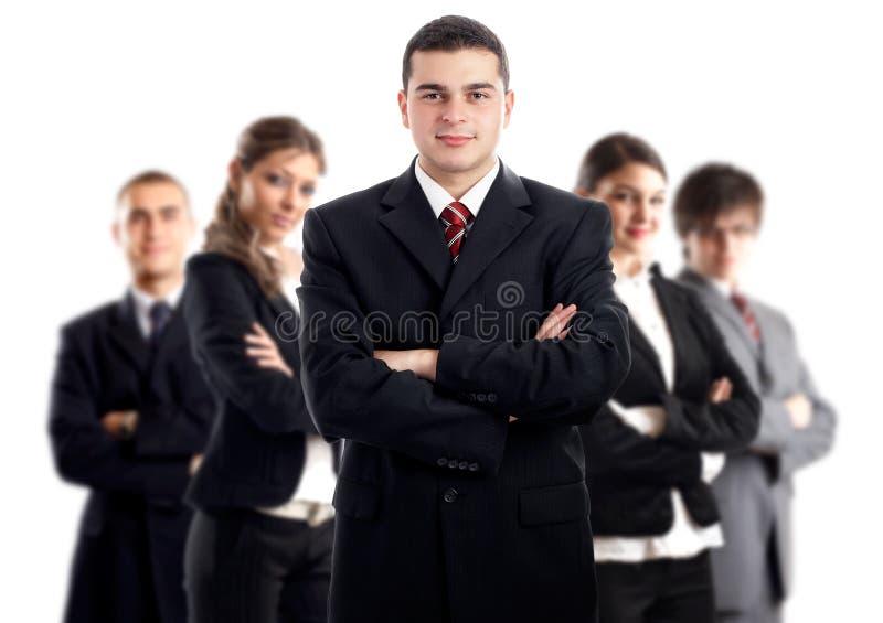Leider en zijn team royalty-vrije stock afbeelding
