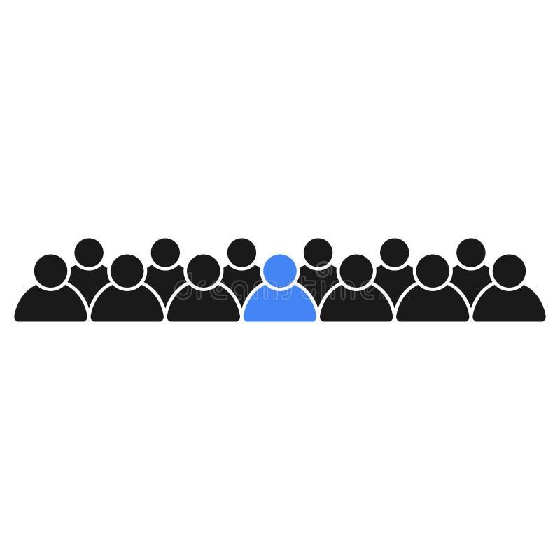 Leider in het team Mensenpictogrammen, bureaupersoneel stock illustratie