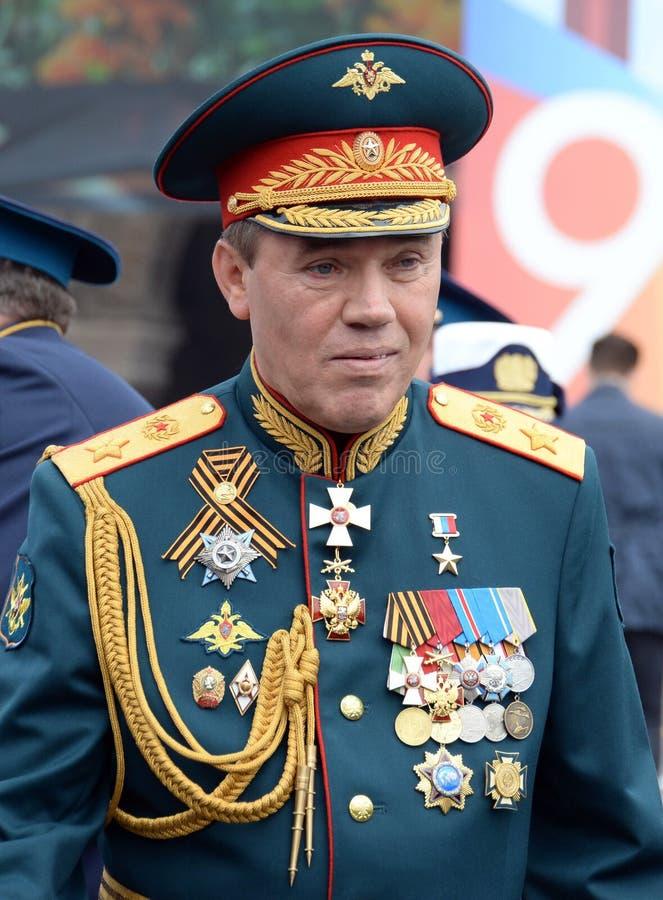 Leider van het Algemene personeel van Russische de defensieminister van de strijdkrachten? eerste Afgevaardigde, leger Algemeen V royalty-vrije stock fotografie