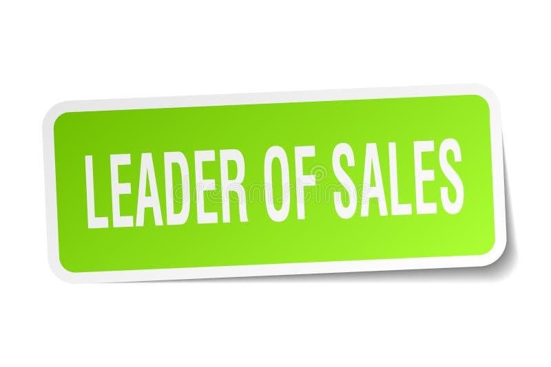 leider van verkoop vierkante sticker vector illustratie