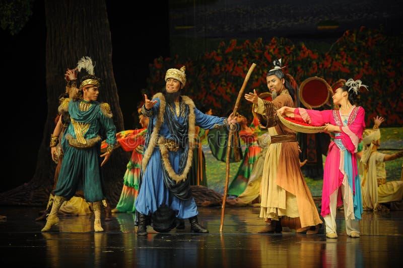 Leiders en oudsten-Hui balletmaan over Helan royalty-vrije stock afbeeldingen