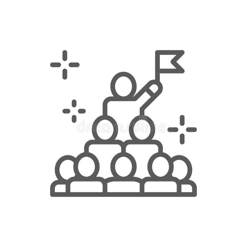 Leiding in bevel, voorzitter, het pictogram van de leiderslijn stock illustratie