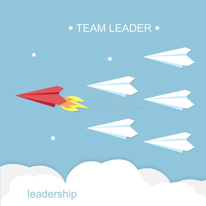 Leiding, het concept van de teamleider royalty-vrije illustratie
