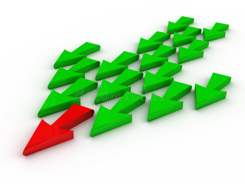 Leiding (pijlen) stock illustratie