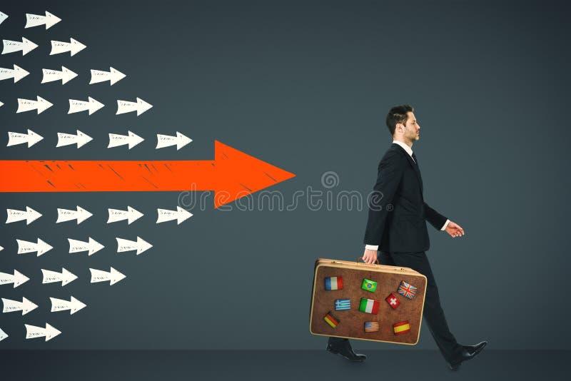 Leiding, reis en de groeiconcept stock afbeeldingen