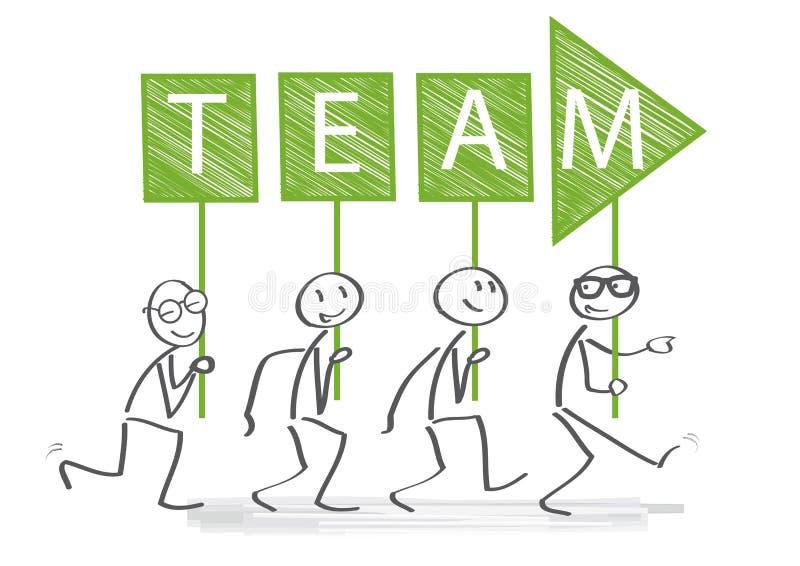 Leiding, succes, en de illustratie van het groepswerkconcept stock illustratie