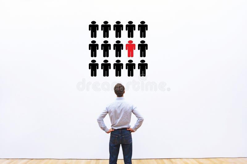 Leiding, werkgelegenheids of carrière bedrijfsconcept, personeelsbeheer stock fotografie