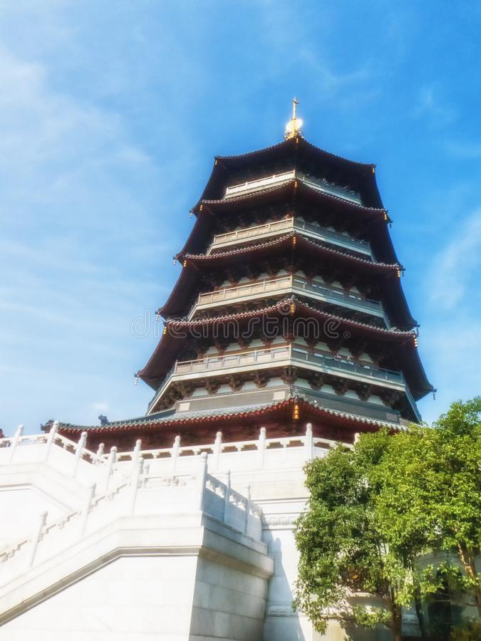 Leifeng Pagoda in Hangzhou, China royalty free stock images