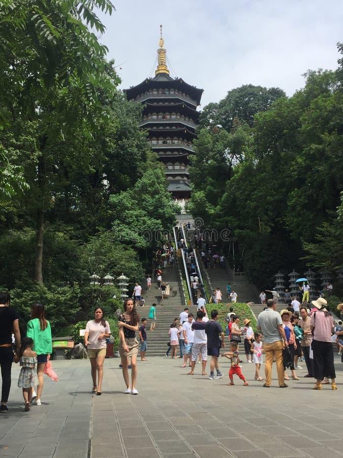 Leifeng pagoda, Hangzhou, Chiny obrazy stock