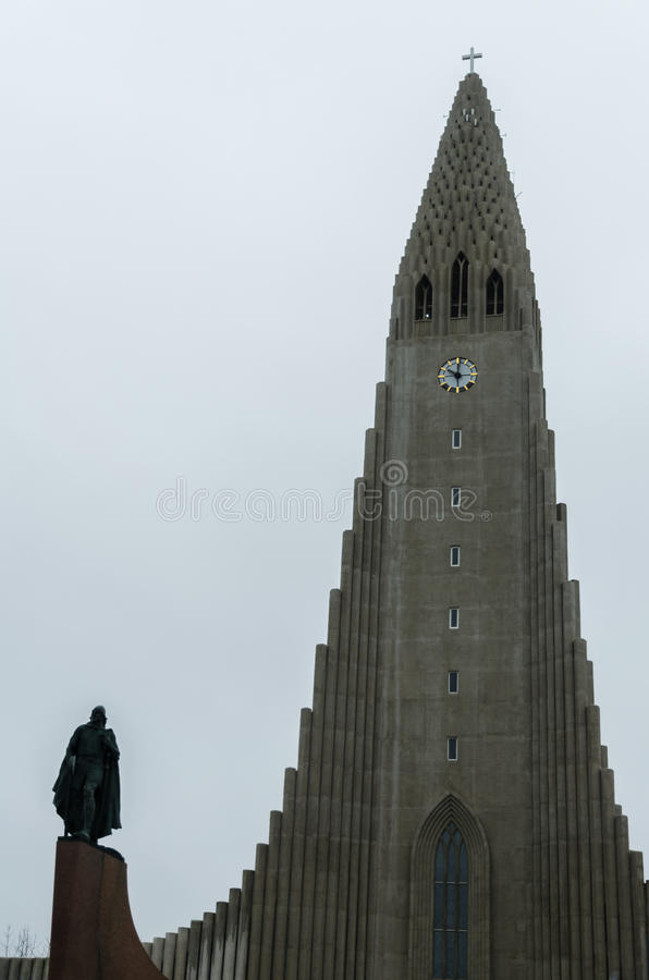 Leifur Eiriksson statue, Reykjavik, Iceland royalty free stock photography