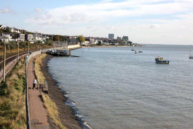 Leigh на железнодорожном пути моря стоковая фотография