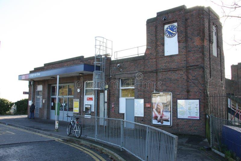 Leigh на станции моря стоковое изображение