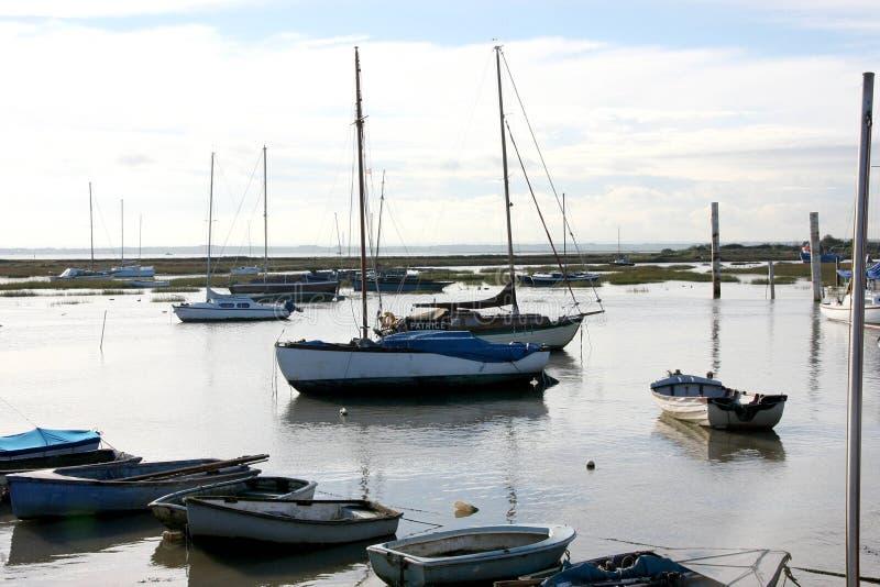 Leigh на шлюпках моря стоковое изображение