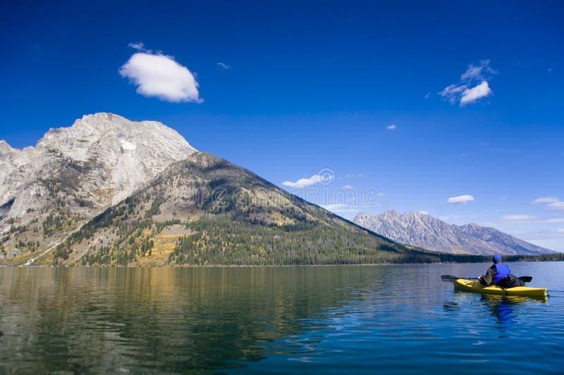 Leigh Lake in Wyoming. Beautiful outdoor scene in Wyoming stock photo