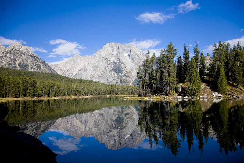 Leigh Lake in Wyoming stock fotografie