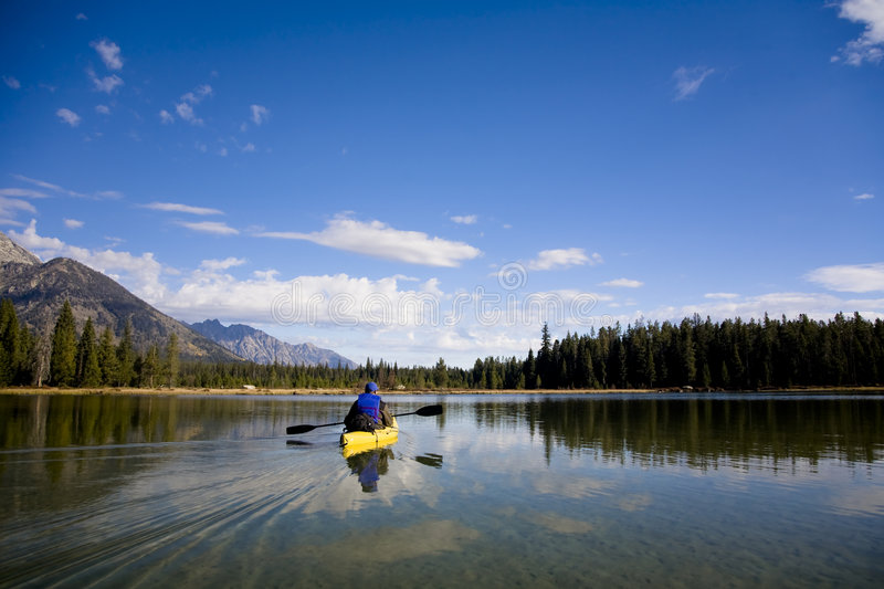 Leigh Lake in Wyoming stock images