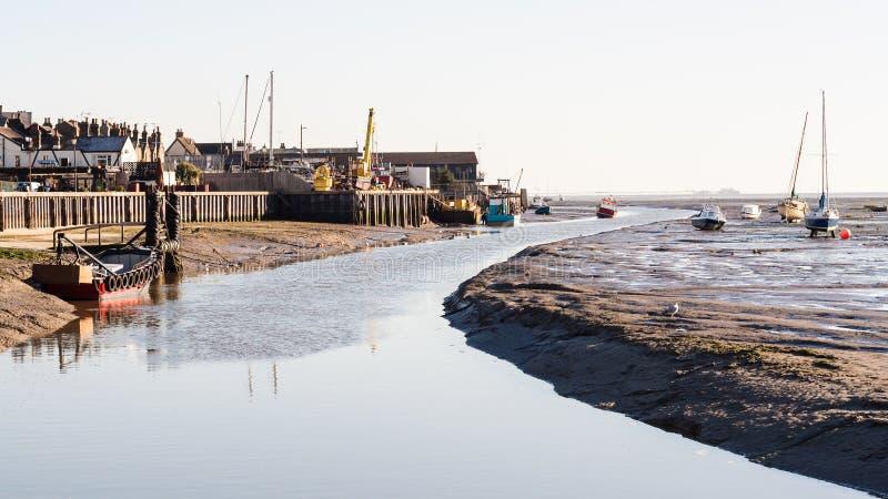 Leigh sur la crique de mer image libre de droits
