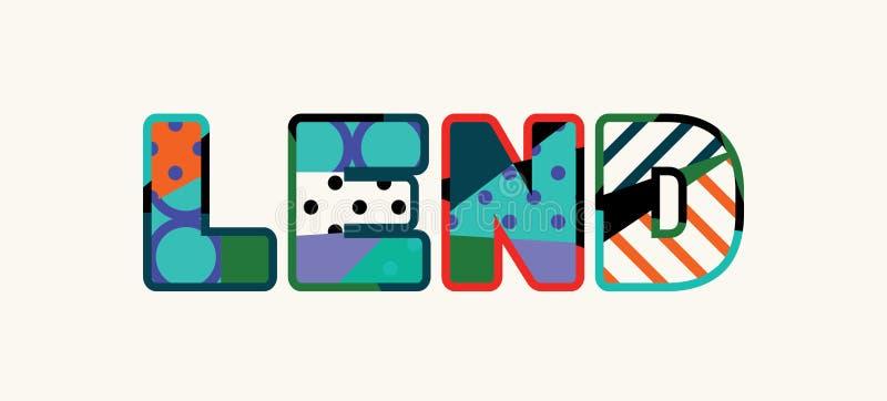 Leihen Sie Konzept-Wort Art Illustration lizenzfreie abbildung