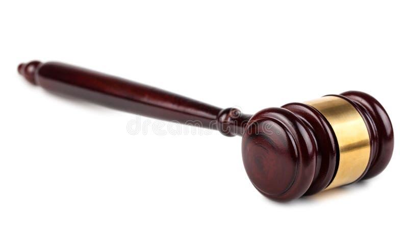 Leilão de Brown ou martelo de madeira dos juizes foto de stock