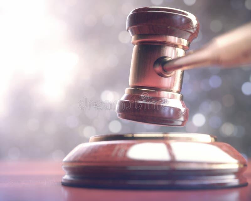 Leilão de Hammer Gavel Bid do juiz fotografia de stock