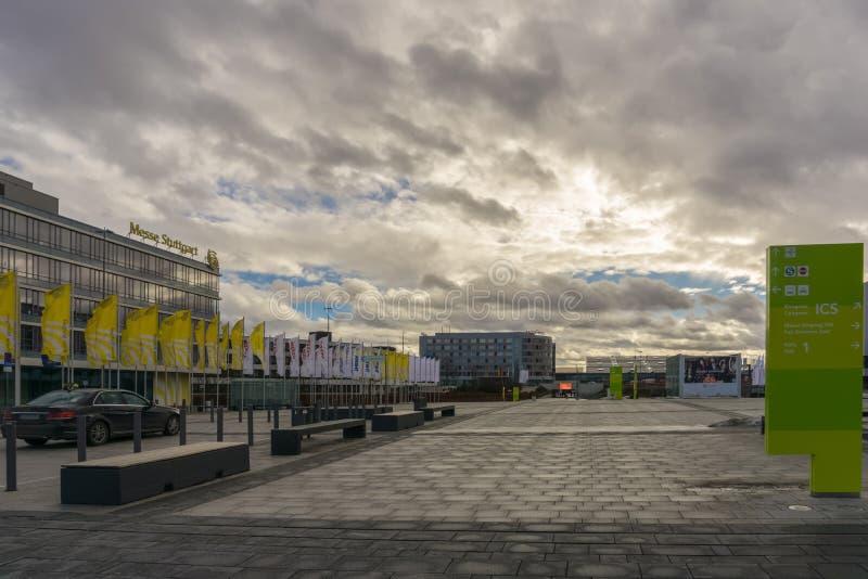 LEINFELDEN-ECHTERDINGEN, GERMANIA - GENNAIO 27,2019: Sito di mostra fotografia stock libera da diritti