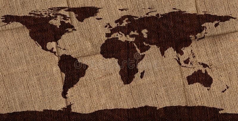 Download Leinwand Weltkarte Stockfoto. Bild Von Global, Planet   28834574
