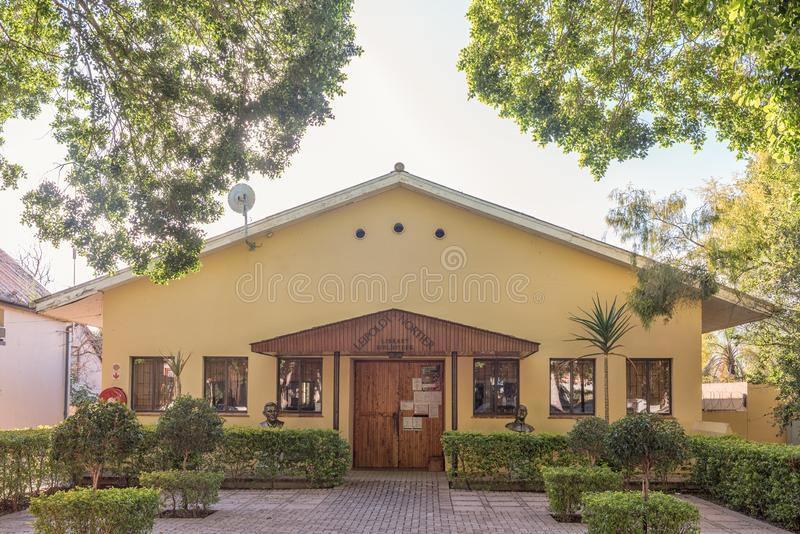 The Leipoldt - Nortier Library in Clanwilliam. CLANWILLIAM, SOUTH AFRICA, AUGUST 28, 2018: The Leipoldt - Nortier Library in Clanwilliam in the Western Cape royalty free stock photography