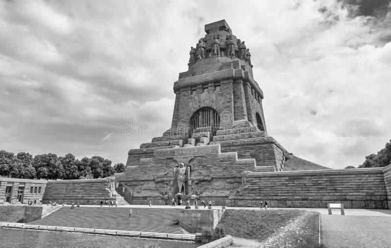 LEIPZIG, ALEMANHA - EM JULHO DE 2016: Monumento à batalha do Nati fotos de stock royalty free