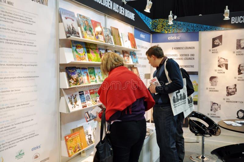 Día público para la feria de libro de Leipzig foto de archivo libre de regalías