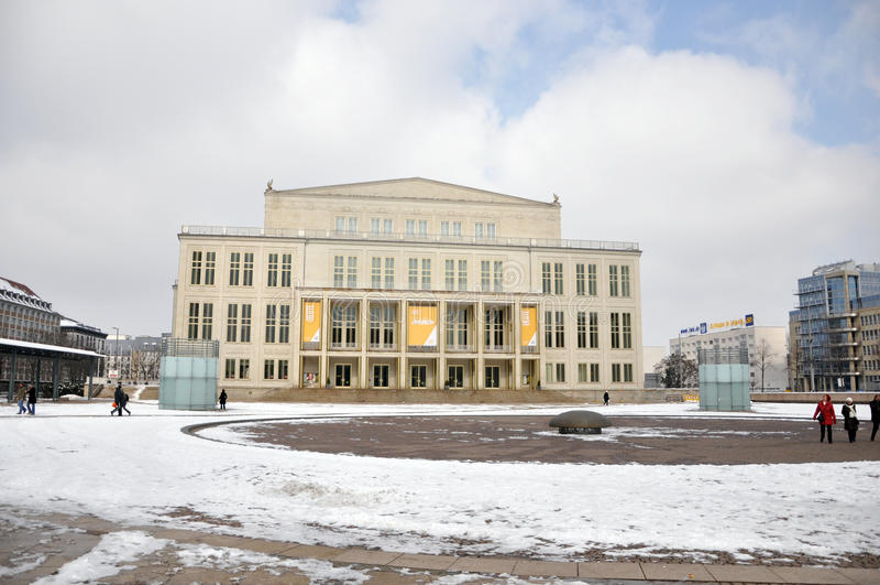 Die Leipzig-Oper lizenzfreies stockbild