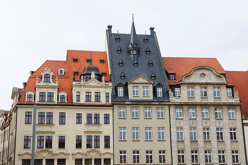 Download Leipzig downtown stock image. Image of renovated, balcony - 27497657