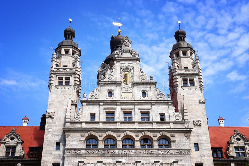 Leipzig, Germany. Leipzig city, Germany. New City Hall (Neues Rathaus) built in historicism architecture style stock images