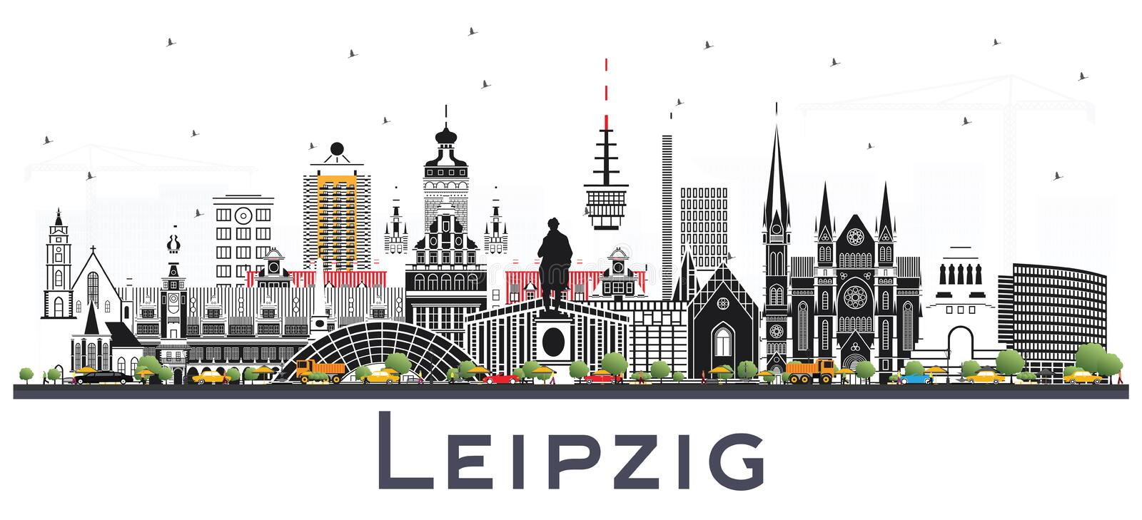 Das RasenBallsport Leipzig Journal Leipzig-germany-city-skyline-gray-buildings-isolated-whi-white-vector-illustration-business-travel-tourism-concept-129294421