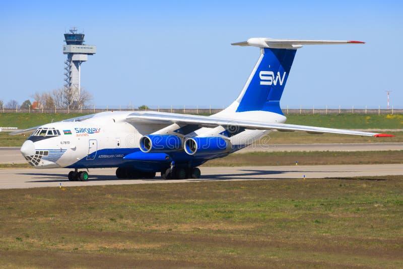 Silk Way Airlines Ilyushin Il-76TD-90SW royalty free stock photo