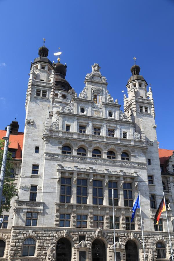 Leipzig, Germany. New City Hall (Neues Rathaus) built in historicism architecture style stock images