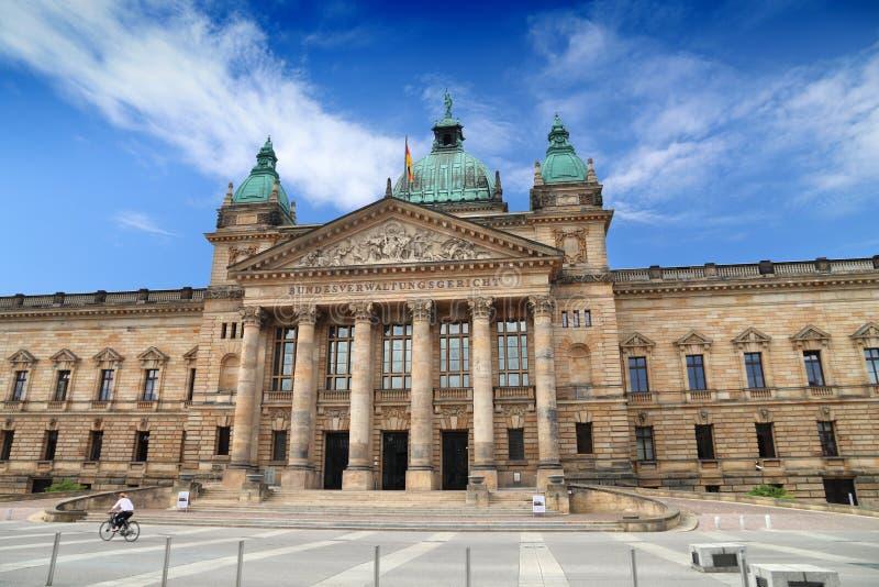 Leipzig gmach sądu fotografia stock