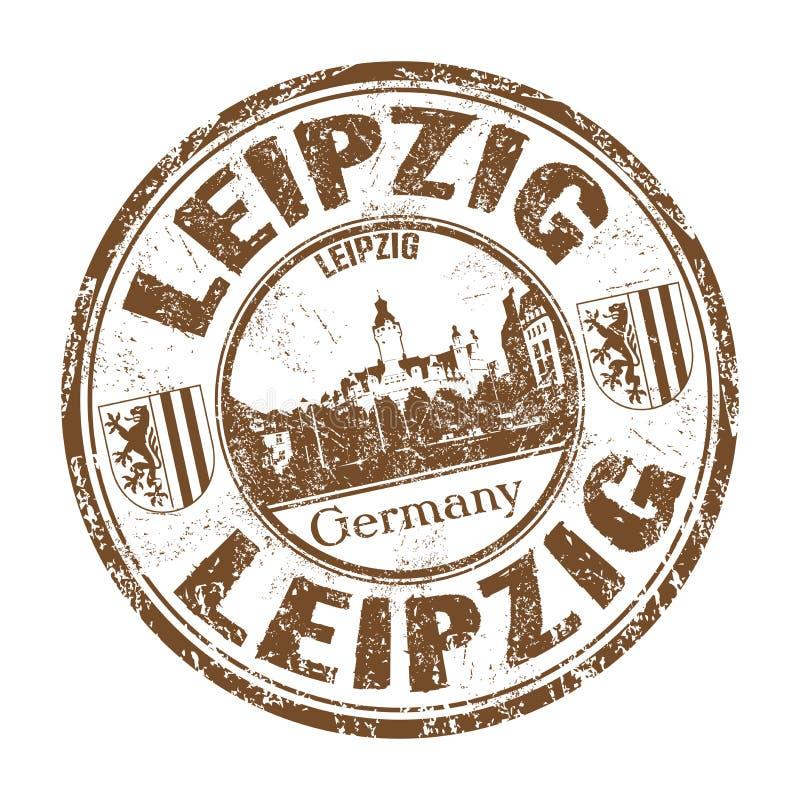 Leipzig grunge rubber stamp stock photo