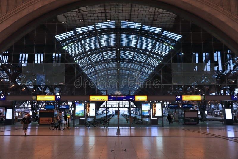 Leipzig järnvägsstation arkivfoto