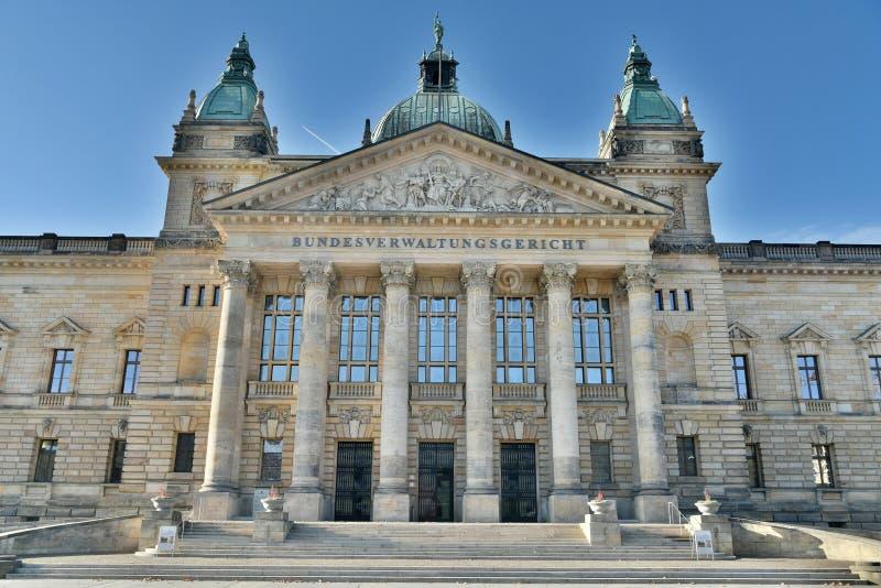 Leipzig Niemcy, Listopad, - 15, 2018 Federacyjny Administracyjny sąd Niemcy Bundesverwaltungsgericht w Leipzig obrazy stock