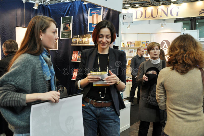 Jawny dzień dla Leipzig targi książki zdjęcia stock