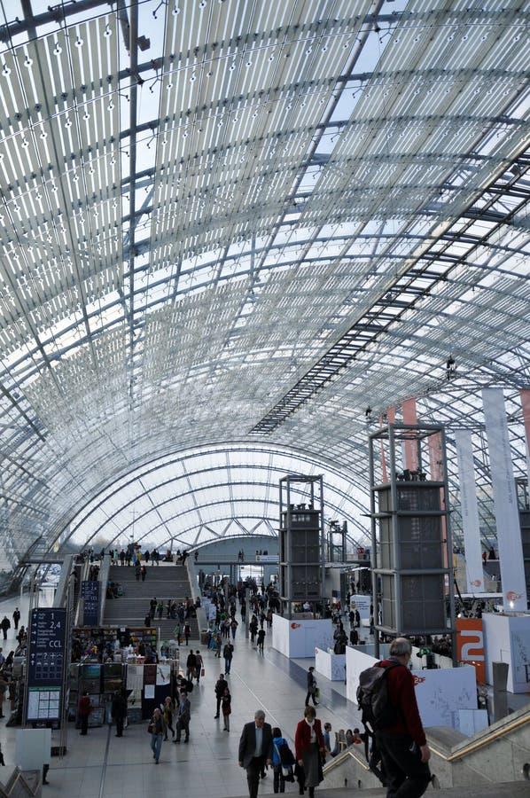 Jawny dzień dla Leipzig targi książki obraz stock