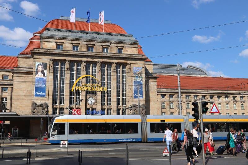 Leipzig offentligt trans. royaltyfria foton