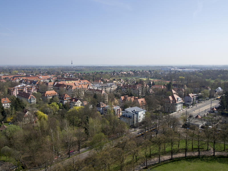 Leipzig overview, Germany royalty free stock photo