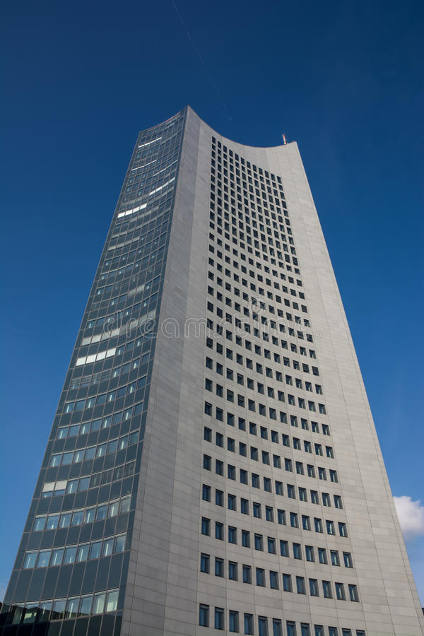Leipzig Panorama Tower Highrise Skyscraper Blue Skies Outdoors G stock image