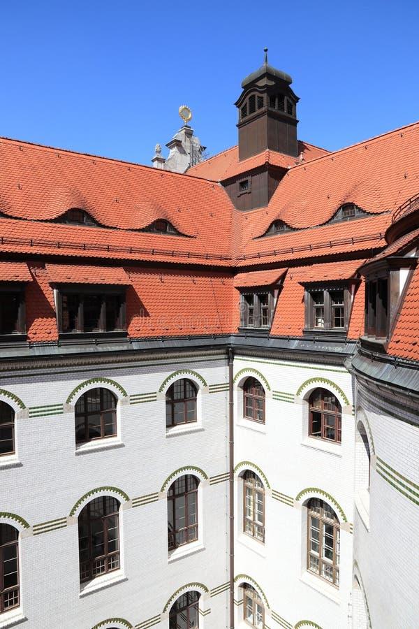 Leipzig Rathaus fotografia stock