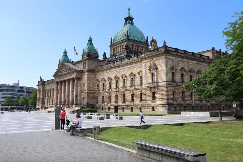 Leipzig sąd najwyższy obraz stock