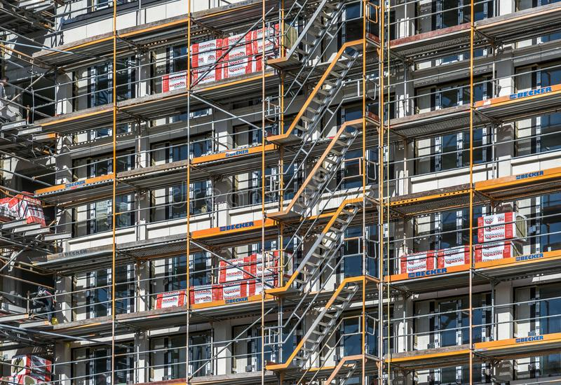 Leipzig, Saxe, Allemagne - 21 octobre 2017 : Grande construction s photo stock