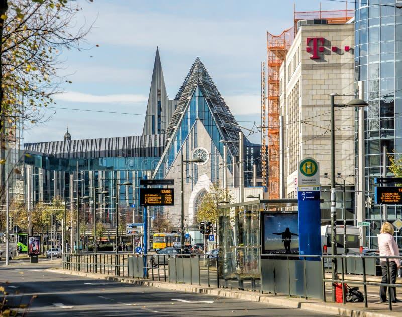 Leipzig, Saxe, Allemagne - 21 octobre 2017 : Vue au reconstitué image stock